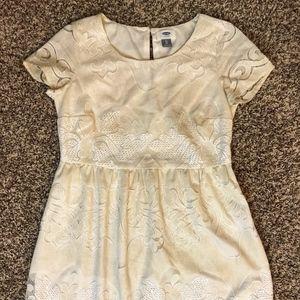 Ivory Lace Swing Mini Dress